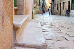 Street in Rovinj, Croatia Stock Photo