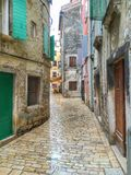 Street in Rovinj. Croatia. Stock Photos