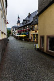 The street of Rudesheim Stock Image