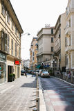 Street Rue de France in Nice City Royalty Free Stock Photography