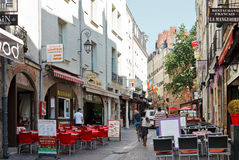 Street Rue de la Baclerie in Nantes, France Stock Photos
