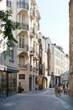 Street Rue des Echevins in Nantes, France Stock Photos