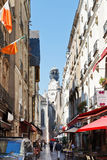Street Rue des Petites Ecuries in Nantes, France. Royalty Free Stock Photos
