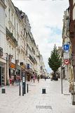 Street rue du Canal στη Angers, Γαλλία Στοκ φωτογραφία με δικαίωμα ελεύθερης χρήσης