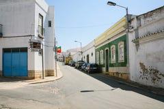 Street Rue Joao de Deus in Estoi town Stock Photo