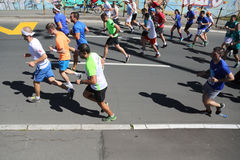 Street runners at 29th Belgrade marathon Royalty Free Stock Photography