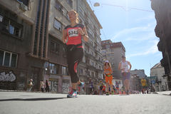Street runners at 29th Belgrade marathon Royalty Free Stock Photos