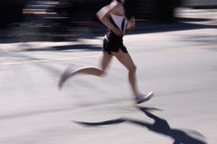 Street running royalty free stock image