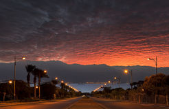 Street running to the Red Sea, Eilat Royalty Free Stock Photos