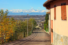 Street runs through small italian town. Royalty Free Stock Photos