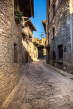 Street in Rupit center Stock Photography
