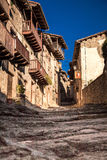 Street in Rupit center Royalty Free Stock Photo