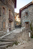 Street in Rupit center Royalty Free Stock Images