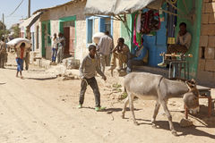 A street in rural Ethiopia Royalty Free Stock Photo