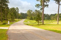Street in Rural Florida Community. Beautiful country roads in rural Florida residential community Stock Images