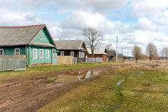 Street of the Russian countryside in the spring Stock Images