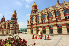 Street in the Russian style, Beidaihe, China Royalty Free Stock Photos