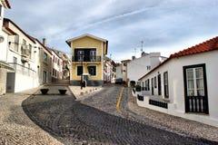 Street in S. Pedro de Moel Royalty Free Stock Image