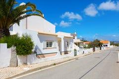 Street in Sagres, southern Algarve of Portugal royalty free stock image
