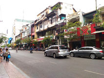 Street in Saigon, Ho Chi Minh, Vietnam Royalty Free Stock Photos