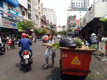 Street in Saigon, Ho Chi Minh, Vietnam Stock Photo