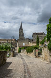 Street of Saint-Emilion. Saint-Emilion - one of the main red wine production areas of Bordeaux region, France royalty free stock photography