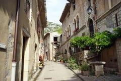 Street. SAINT-GUILHEM-LE-DESERT, FRANCE - CIRCA JULY 2015 On the main street royalty free stock photos
