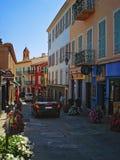Street Saint Jean Cap Ferrat stock images