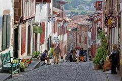 A street in Saint-Jean-Pied-de-Port royalty free stock images