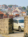 Street of Saint Peter Port, Bailiwick of Guernsey Royalty Free Stock Photo