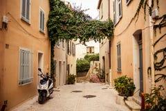 Street in Saint Tropez. View of street in Saint Tropez, French Riviera stock image