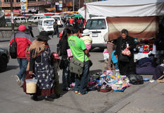 Street sales in the center of La Paz, Bolivia Stock Image