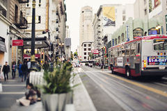 Street of San Francisco. Street in San Francisco in downtown area Stock Images