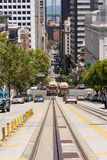 The street of San Francisco. A street on the hill of San Francisco Royalty Free Stock Photography