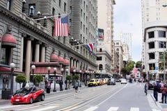 Street of San Francisco next to Union Square Stock Photo