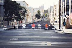 Street of San Francisco. Street in San Francisco in residential area Stock Image