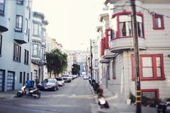 Street of San Francisco. Street in San Francisco in residential area Stock Photography