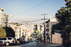 Street of San Francisco. Street in San Francisco in residential area Royalty Free Stock Photos