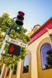 Street San Francisco traffic light. Day blue sky stock photo