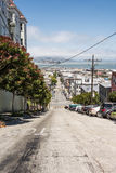 The street in San Francisco. A view of a up and down street in San Francisco Royalty Free Stock Photography