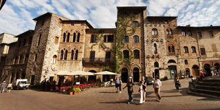 Street in San Gimignano Royalty Free Stock Photography
