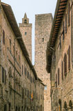 Street in San Gimignano, Italy Stock Images