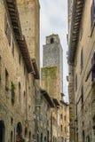 Street in San Gimignano, Italy Stock Photography