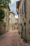 Street in San Gimignano, Italy Stock Photos