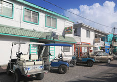 At the street of San Pedro, Belize Royalty Free Stock Photo
