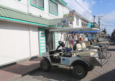 At the street of San Pedro, Belize Royalty Free Stock Images