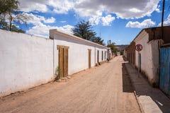 Street in San Pedro de Atacama, Chile Stock Image