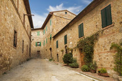 The street in San Quirico d`orcia Stock Photo