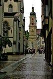 The street in Sankt Gallen. stock photos