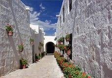 Santa Catalina, Arequipa. Street of Santa Catalina Monastery in Arequipa, Peru Stock Photos